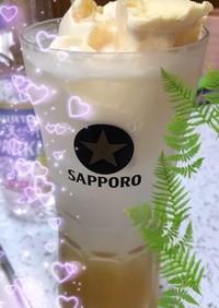 爽快☆マンゴー玄米黒酢でクリームソーダ♪