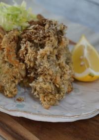 舞茸と山芋で作る「牡蠣フライもどき」