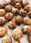 小麦粉なし米ぬか入りクッキー