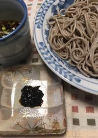 ざる蕎麦の海苔が無い時、海苔の佃煮で!