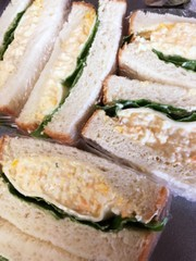お弁当、朝食に簡単!卵サンド(食パン)の写真