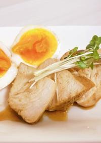 ダイエットおかず鶏胸肉チャーシューと煮卵