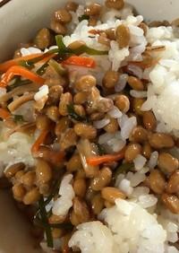 納豆と松前漬けの混ぜご飯