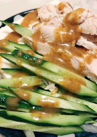 簡単ササミのヘルシー棒棒鶏風サラダ