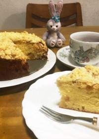 アップルシナモンクランブルケーキ