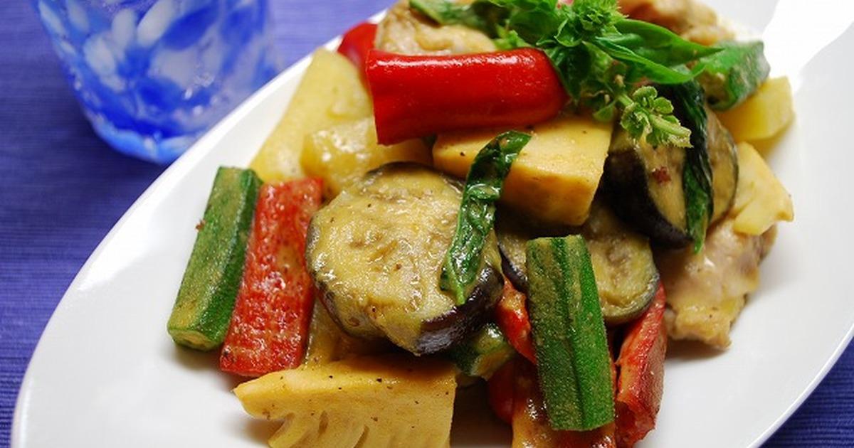 夏野菜のグリーンカレー炒め by ブルーキャット0707