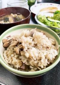 舞茸とイワシ缶の炊き込みご飯