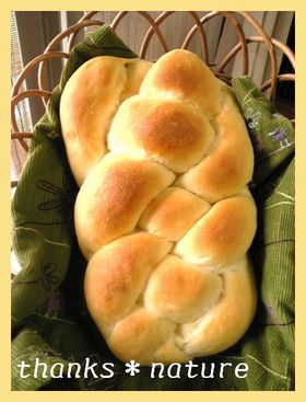 フルーツチップの編みパン