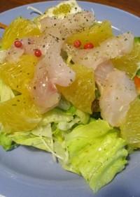 ゆめかさごのカルパッチョ風サラダ