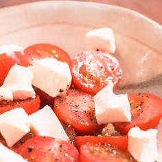 ミニトマトとクリームチーズのカプレーゼ風