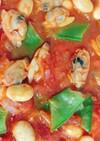 大豆とシーフードのトマト煮