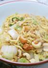 牡蠣油香る☆白菜と竹輪の中華風塩焼きそば