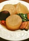 大根、ふだん草の塩豚煮 シャトルシェフ