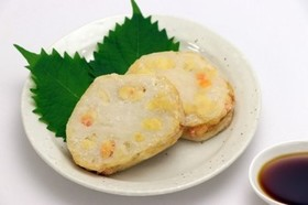 【米粉】豆腐のレンコンはさみ揚げ