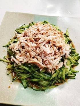 簡単!きゅうりとささみの中華サラダ