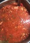 鯖缶トマトスープ