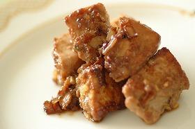 サイコロ鮪の味噌ステーキ