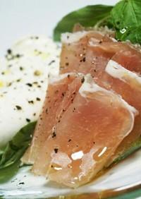 肉ダイエット22★生ハムブッラータチーズ