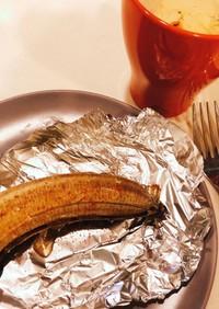 ハチミツとシナモンの焼きバナナ