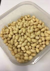 乾燥大豆の戻し方(水煮ver)