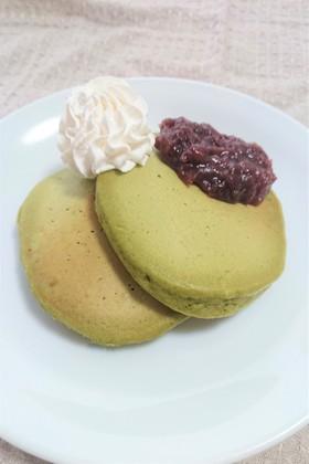 青汁de抹茶風パンケーキ