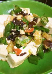 ラク☆豆腐と海老のオイスターソース炒め