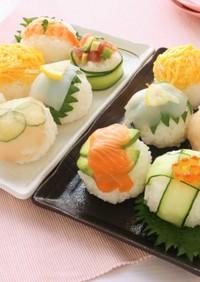 母の日に*手まり寿司