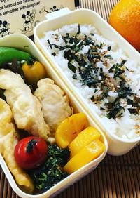 鶏のささみの天ぷら弁当♪
