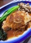 厚切り豚ロース肉の生姜焼き