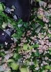 休校レシピ23  小松菜&ひき肉は無限大