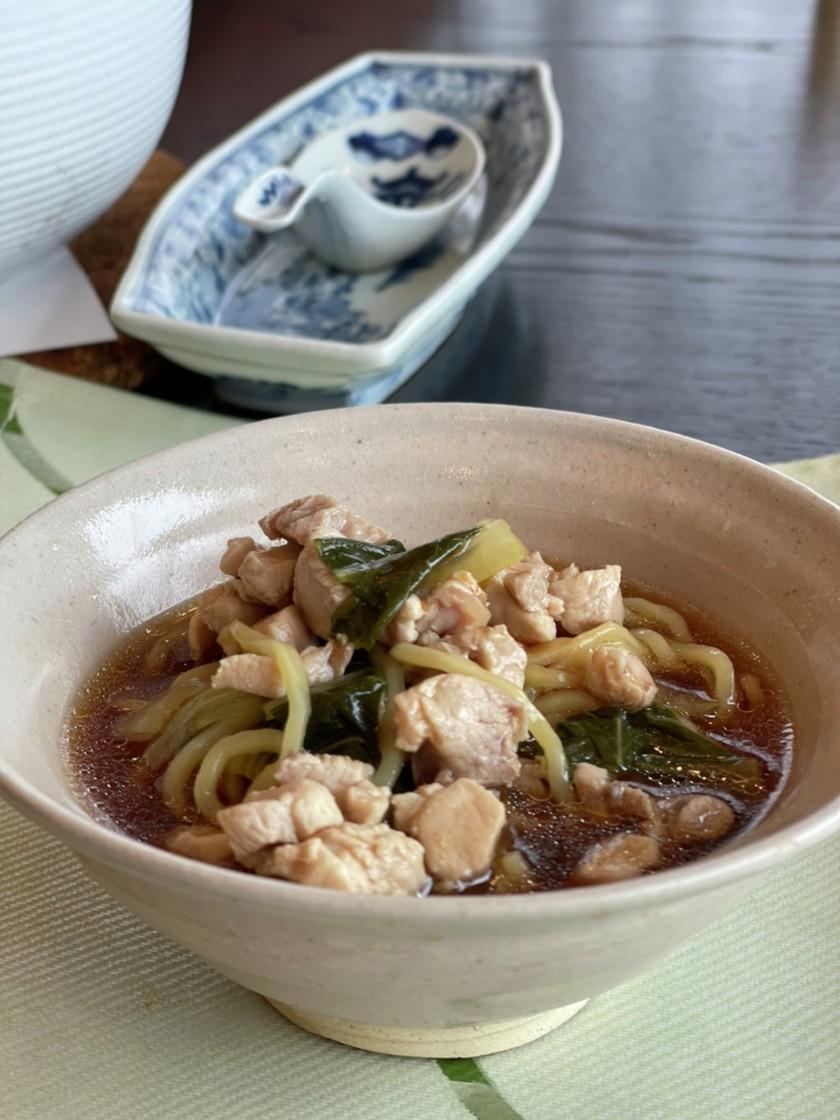 簡単^_^鶏と青梗菜の中華そば