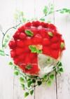 華やかイチゴのゼリーケーキ
