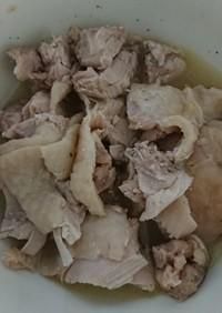 休校レシピ26 レンチン鶏チャーシュー