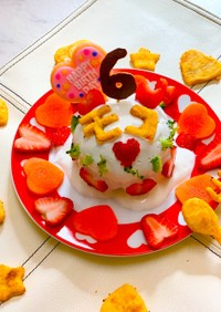 愛犬の手作りケーキ