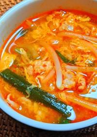 韓国風ニラと卵のピリ辛スープ