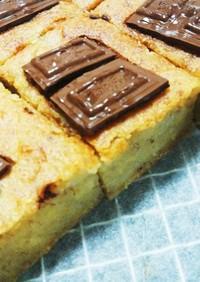 超簡単米粉と生おからのチョコバナナケーキ