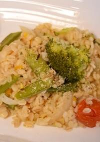 野菜と押し麦のリゾット