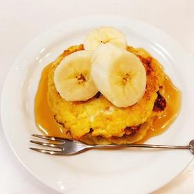 グルテンフリー♡バナナと卵のパンケーキ