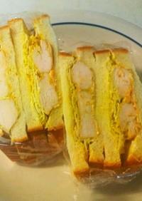 スパイシーチキンのサンドイッチ