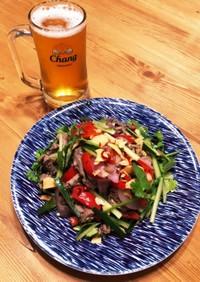 簡単!牛肉×パクチーのタイ風サラダ