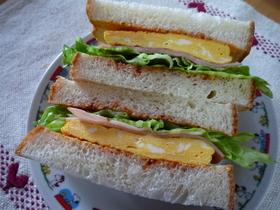 ☆お腹も満足♪ 厚焼き卵のサンドイッチ☆