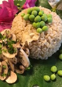 海水と野菜茹で汁で炊く♡タケノコご飯♡