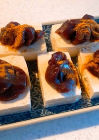 お豆腐でお餅風デザート