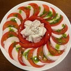 鶏ハムとトマトのサラダ・カプレーゼ風