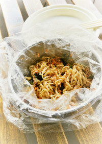 ビニール袋で作る☆サバイバル乾物サラダ☆