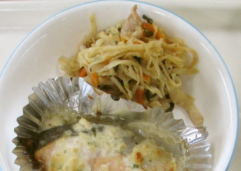 【学校給食】豚肉と切干大根の炒め物