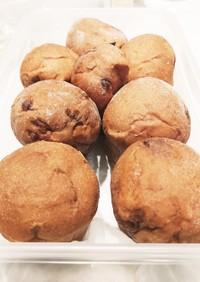 マフィン型でチョコチップチョコパン