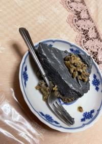 豆腐で黒ごまプリンの和風タルト