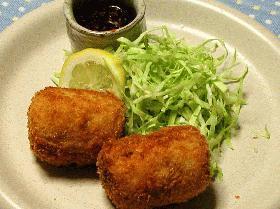 鮭のチーズ・豆腐入りコロッケ