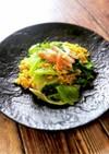 節約レシピ☆レタスとカニカマの炒飯